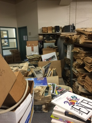 Hundreds of old and new editions of EIU's daily newspaper publication The Warbler