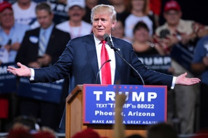 Donald Trump. Image found on Johns Hopkins University Hub website.
